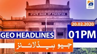 Geo Headlines 01 PM | 20th February 2020