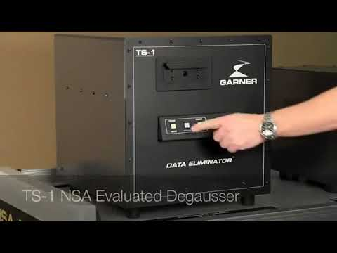 Video of the Garner TS-1E Continuous Duty Degausser Shredder