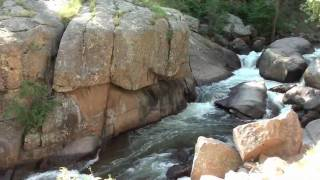 HD St Vrain Canyon and Creek Lyons to Allenspark Colorado in High Def