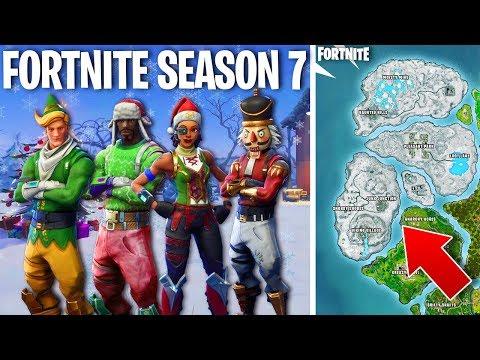 Download Fortnite Season 7 Theme New Christmas Skins Map