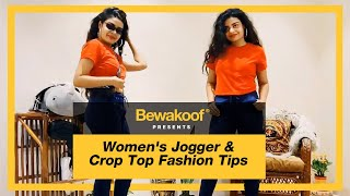 Bewakoof Crop Top Review | Bewakoof Joggers | Online shopping