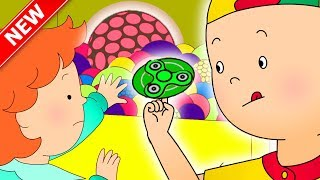 ★NEW★ Caillou plays with FIDGET SPINNER and SLIME   Funny Animated Caillou