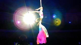 Цирк. Воздушная Гимнастика. Воздушная Гимнастика на Полотнах. Воздушная Гимнастика Видео