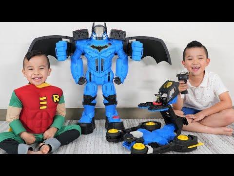 TRANSFORMING Batmobile and Batbot Epic Battle DC Super Friends CKN Toys