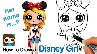 How To Draw A Disney Cute Girl Easy