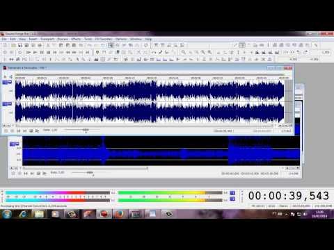 Tirando voz da Música - Sound Forge (Locutor Kiko)