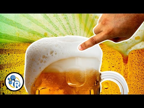 Quickly Rid Your Beer Of Excess Foam With An Oily Finger