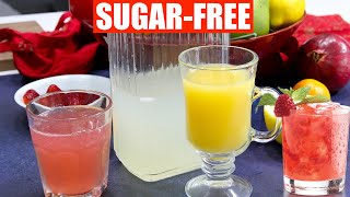 Sugar-Free Keto Lemonade +  Holiday Cocktails Strawberry Pink Lemonade Video Recipe Bhavna's Kitchen