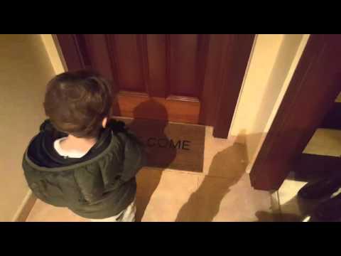 Niño felpudo welcome (alfombra)