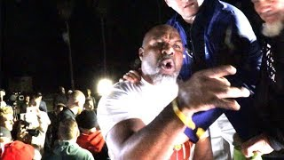 BEEF ! - FIGHT NEARLY BREAKS OUT AS KSI CLASHES WITH SHANNON BRIGGS WHO CLASHES WITH TEAM KSI