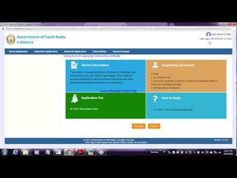 Download How To Apply Community Certificate In Online L