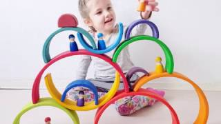100!!! Grimm's Rainbow Play & Stacking ideas