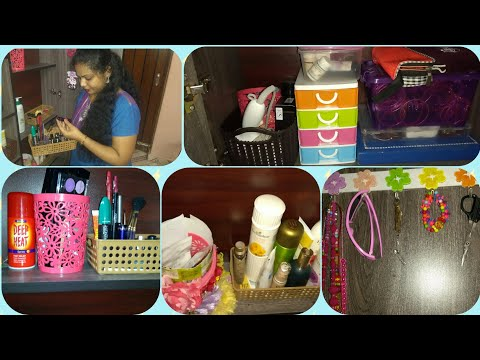 My dressing table organization video