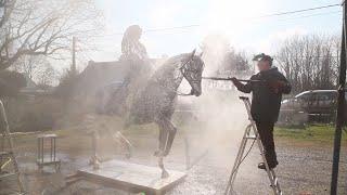 CONTEMPORARY ART - Horse Art - Arc Welding Art - Louis XIV Sculpture  - France - Serge Sangan