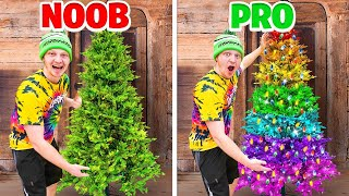 7 WAYS To Decorate Your CHRISTMAS TREE! Challenge