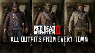 Red Dead Redemption 2 - Outfits From All Towns (Armadillo, Saint Denis, Valentine & more)