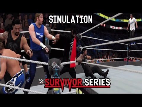 WWE 2K17 SIMULATION: Team Smackdown vs Team RAW - Survivor Series 2016 Highlights