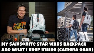 My Samsonite Star Wars Backpack - Overview and What I Keep Inside - Camera Gear