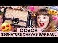 Coach Signature Canvas Bag Collection! Parker / Riley / Canteen Handbag!