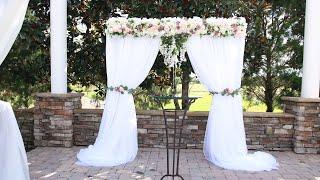Easy DIY Flower Wedding Backdrop Tutorial