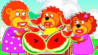 Lion Family 🥭 Super Fruits Cartoon for Kids