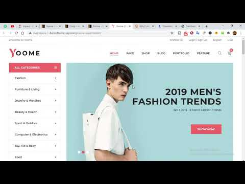Yoome - Modern WooCommerce WordPress Theme Install & demo Import