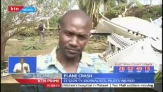 Three Kenyan Journalist among five injured when a small aircraft crashed near Kibera