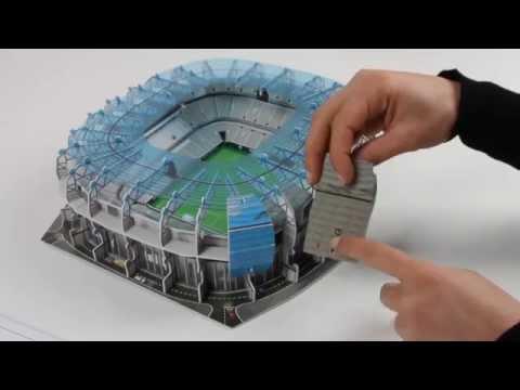 3D-Puzzle Nanostad: Allianz Arena Blau