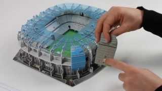 Nanostad 3D Allianz Arena München Blau Tutorial [deutsch]