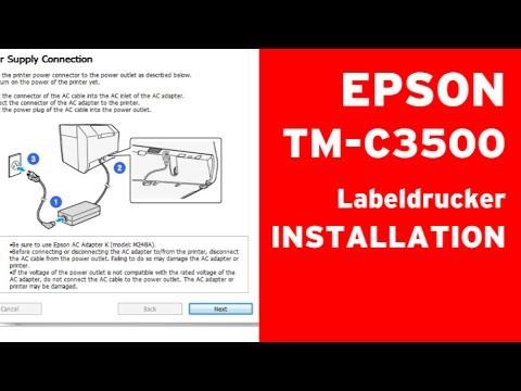 EPSON TM-C3500 Installation Computer Tintenpatronen Etiketten