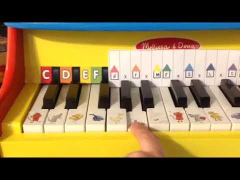 How to use the sol fa piano template