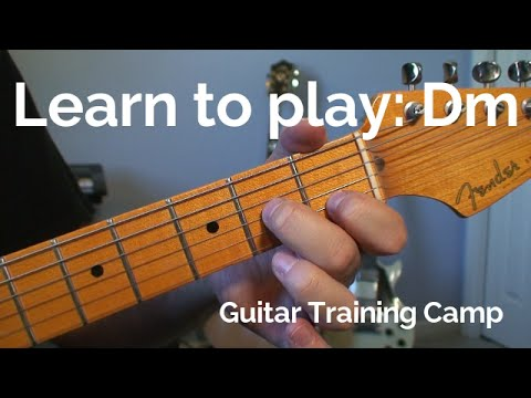 Beginner Guitar Lessons: How to play a Dm chord