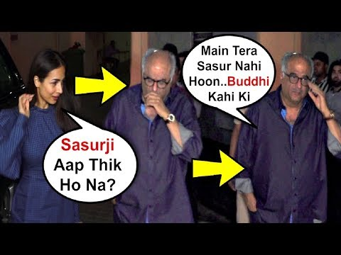 Boney Kapoor Ignores Son Arjun Kapoor Girlfriend Malaika Arora Khan At India's Most Wanted Screening