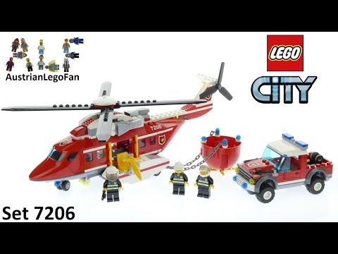 Vidéo LEGO City 7206 : L'hélicoptère des pompiers