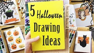 5 Halloween Drawing/Art Ideas: More Ways To Fill Your Sketchbook