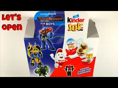 Found some TRANSFORMERS Kinder Eggs! Opening Robots In Disguise Kinder Joy Eggs