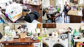 EXTREME DEEP CLEAN, DECLUTTER AND ORGANIZATION | LAUNDRY ROOM CLEANING MOTIVATION