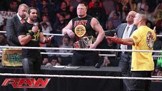 Royal Rumble WWE World Heavyweight Championship Contract Signing: Raw, January 12, 2015