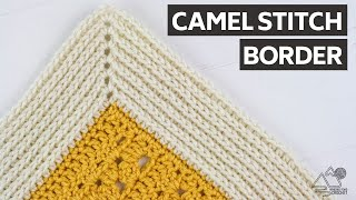 CROCHET: Camel Stitch BLANKET Border: Works for ANY Blanket