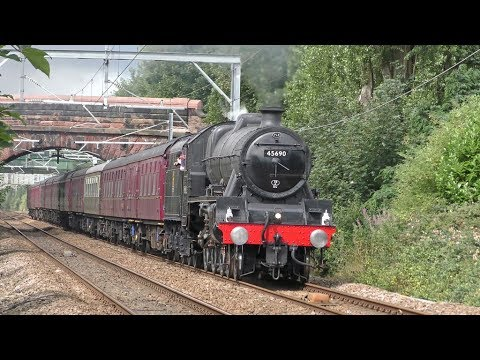 LMS Jubilee 45690 'Leander' with 'The North Wales Coast Expr…