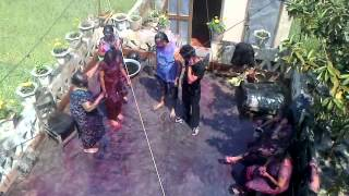 preview picture of video 'colours of  holi in birgunj 2014'