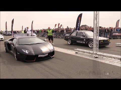BMW 325i E30 Turbo vs Lamborghini Aventador LP700-4