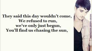 The Wanted - Chasing The Sun (lyrics & Pictures)