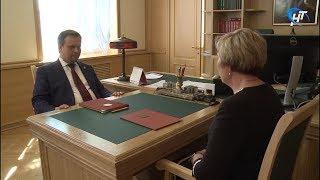 Андрей Никитин провел рабочую встречу с главой Парфинского района Еленой Леонтьевой
