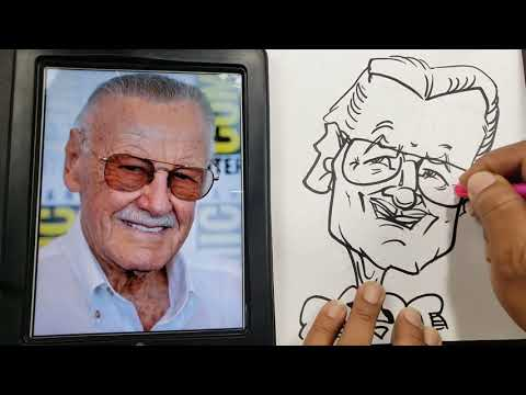 how to draw a simple caricature by rowser world