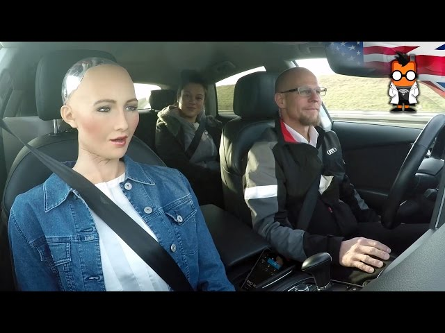 Robot-meets-self-driving-car