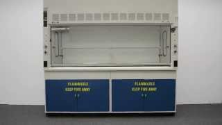 8′ Fisher Hamilton Safeaire Laboratory Fume Hood w/ Flammable Cabinets