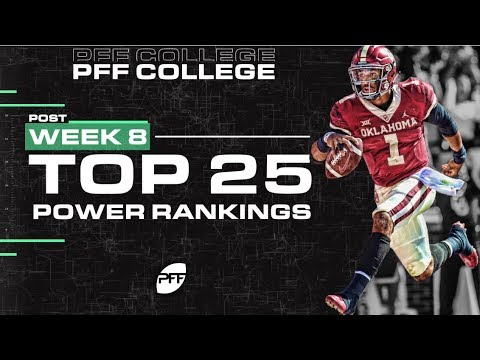 College Top 25 Power Rankings After Wk 8 | PFF
