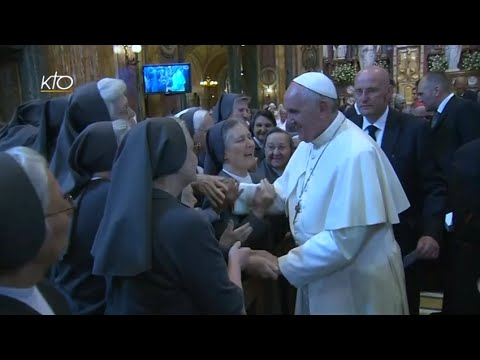 Le Pape rencontre les Salésiens et les Filles de Marie Auxiliatrice