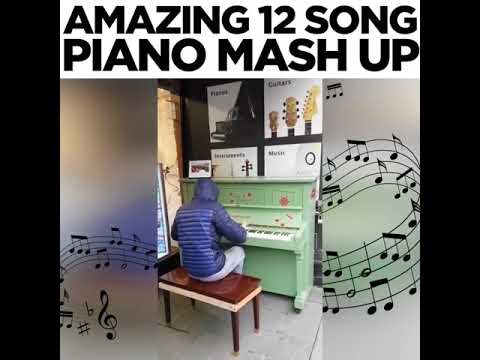 Amazing 12 songs piano mashup!!!